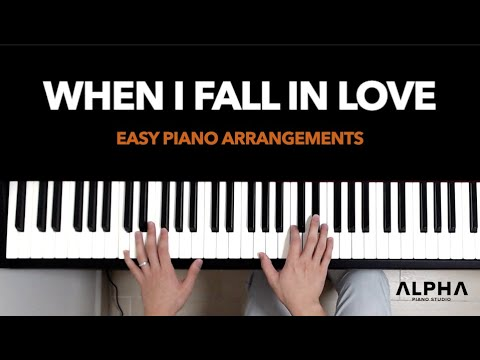 When I Fall in Love (Jazz Ballad) - Easy Piano Arrangement (Level: High-Beginner)