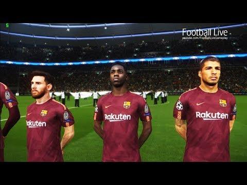 PES 2018 | Sporting Lisbon vs FC Barcelona | UEFA Champions League | Gameplay PC