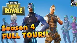 Fortnite Battle Royale SEASON 4 Aperçu! (Orange Shirt Kid, NEW Challenges, Upgrade Skins, - Plus)