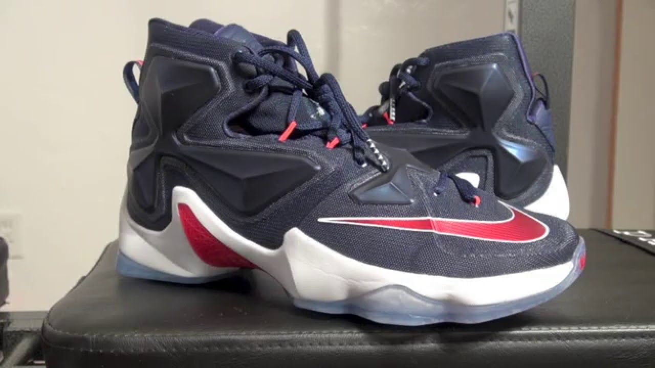 hot sale online 3990f 255e0 Nike LeBron 13 USA (Midnight Navy) - YouTube