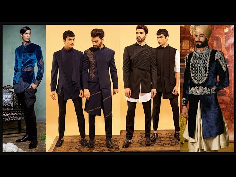 Party wear dresses for men/Wedding Sherwani/ Kurta Pajama Designs/Indo western dresses for men- FSHC