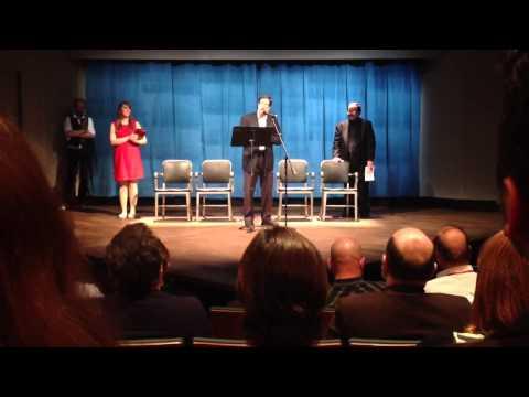 Jim Steinberg speaks at Steinberg/ATCA New Play Award cerem