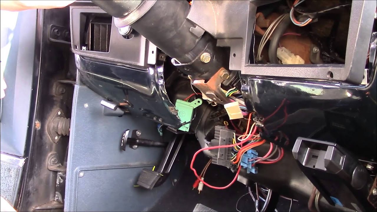 85 Chevrolet Steering Column Wiring Diagram Steering Column Swap 1989 K5 Blazer Youtube