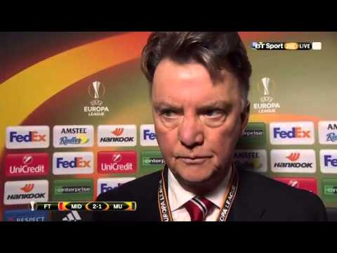 Louis van Gaal blames 'The Law Of Murphy' for @ManUtd's defeat in Denmark.