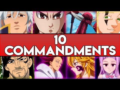 10 Gebote / 10 Commandments ERKLÄRT! | Nanatsu No Taizai (The Seven Deadly Sins)