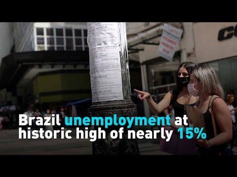 Brazil unemployment at historic high of nearly 15%