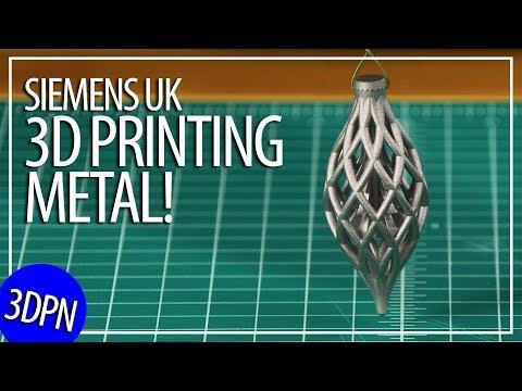 3D Printing Metal! Press Tour Siemens UK Materials Solutions AND Free STL!