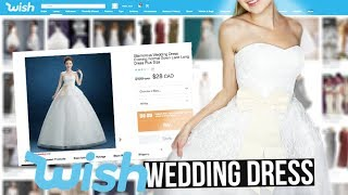 TRYING $28 WEDDING DRESS FROM WISH.COM!! *Success...kinda*
