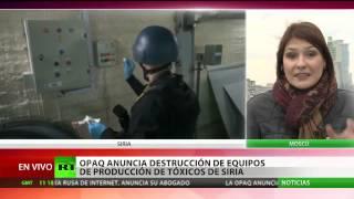 Destruido todo el equipamiento para producir armas químicas en Siria