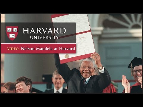 Nelson Mandela at Harvard
