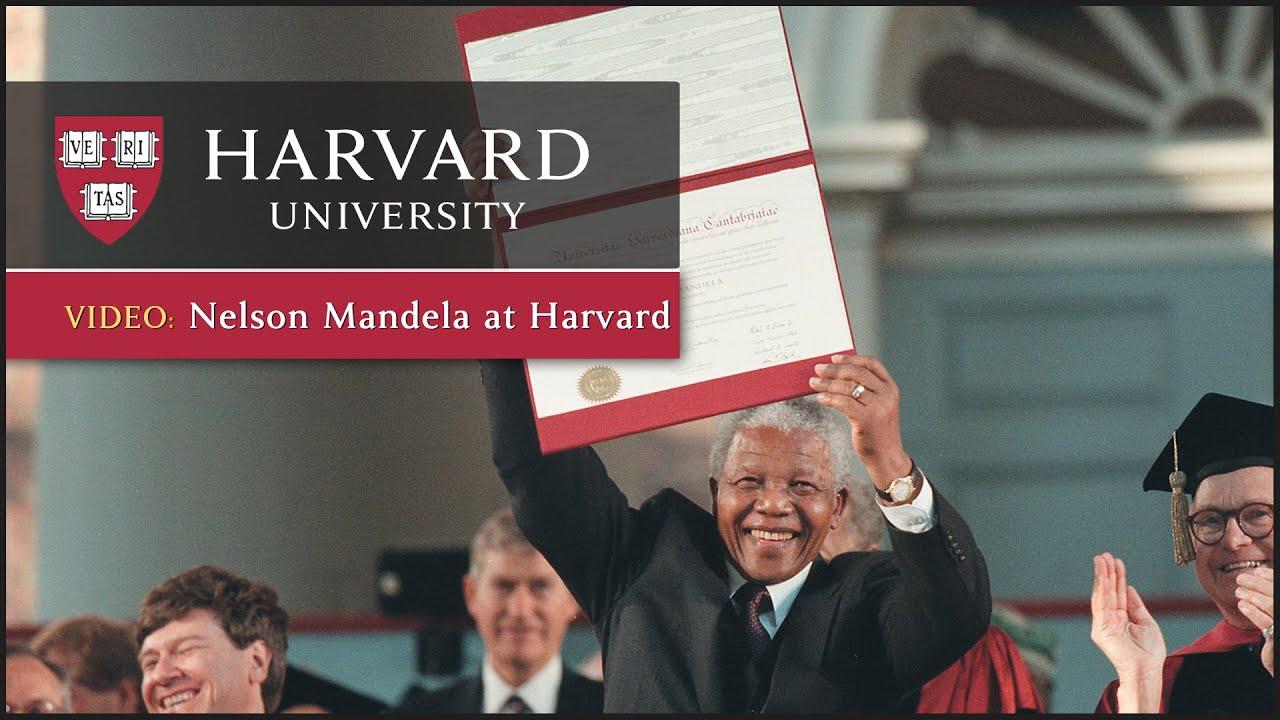 Nelson Mandela at Harvard