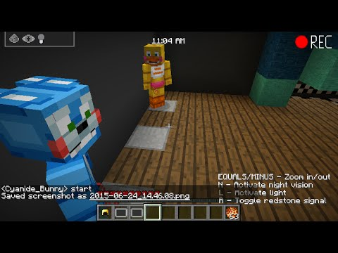 Five Nights At Freddy S Minecraft Map 2 Camera Tour