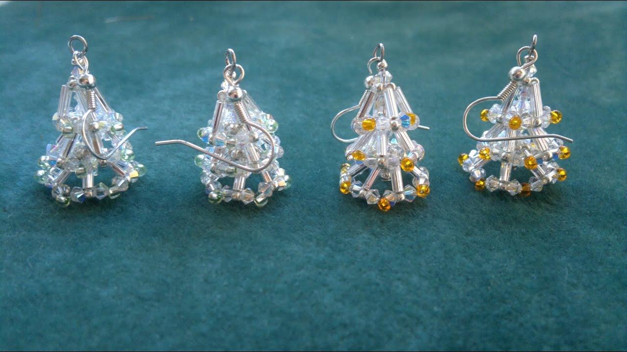 Beading4perfectionists Christmas Tree Earring Video Version  - Make Christmas Tree Earrings