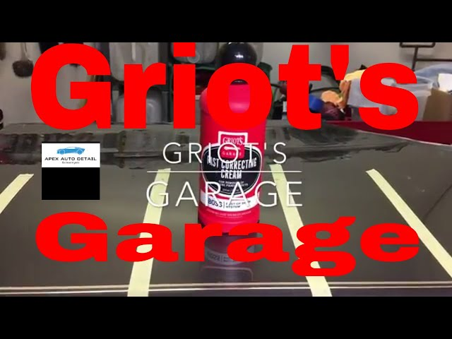 Griots Garage BOSS Fast Correcting Cream!!!! Sub_Micron Abrasives, Low Dusting, Quick Cut!!!