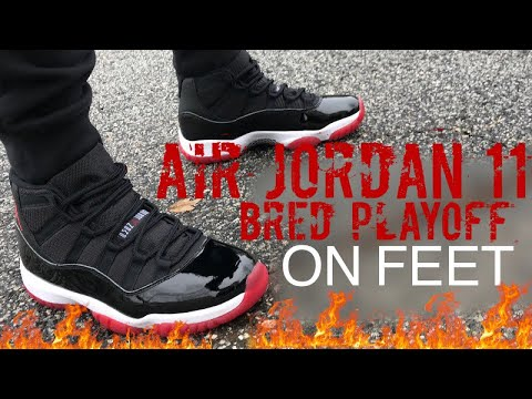 Air Jordan 11 Bred Playoff XI 2019 Retro Sneaker On Feet Review With Sizing