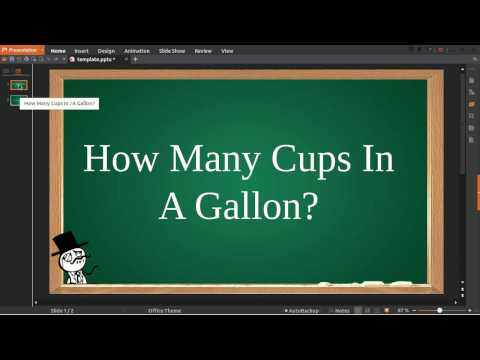 How Many Cups In Gallon