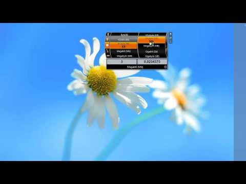 Convert units you want with Unit Converter Windows 7 Desktop Widget