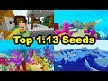BEST Minecraft 1.13 WORLD SEEDS - Coral, Icebergs, Ships, Mushroom Islands
