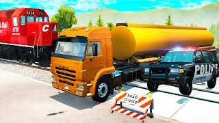 Trains Crashes Collapse #1 - Beamng drive