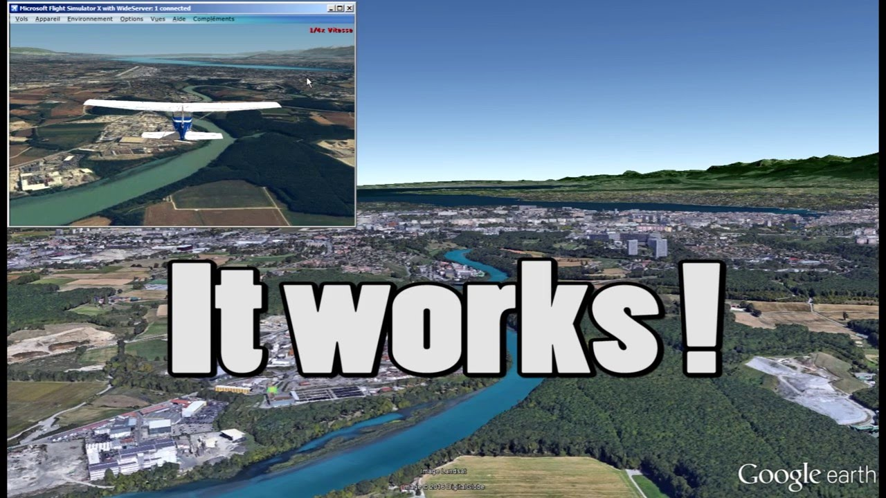 Flight Simulator X With Google Earth YouTube - Microsoft satellite maps