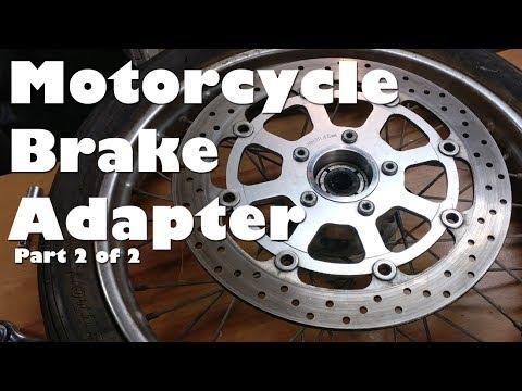 (2/2) Making GSXR Motorcycle Front Brake Rotor Conversion Adapter Mount on  Honda CB360