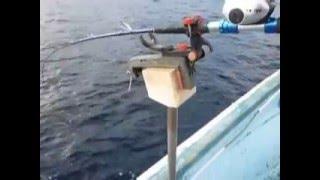 北海道サクラマス、ヒラメ用バケ釣り対応お手軽自作手動シャクリ機「沖ラーク」
