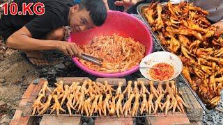 Nướng 10.KG Chân Gà Siêu Cay ( Grilled chicken feet 10.KG )