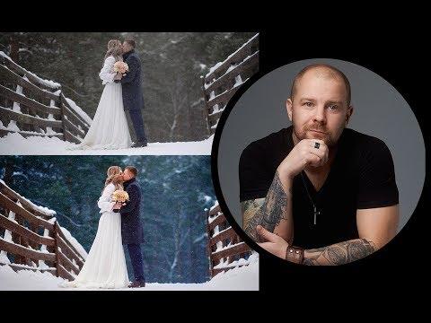 Обработка зимних фото, фотошоп и капчер ван.  Photoshop Capture One