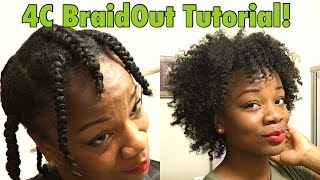 Fluffy Braid Out on Natural 4C Hair