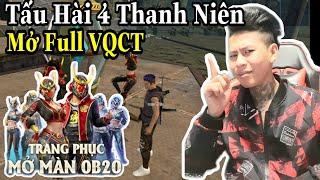 (FREEFIRE) Săn Full Vòng Quay Chế Tác Vs 10.000 Kc, Tấu Hài Cực Mạnh Của 4 Thanh Niên.