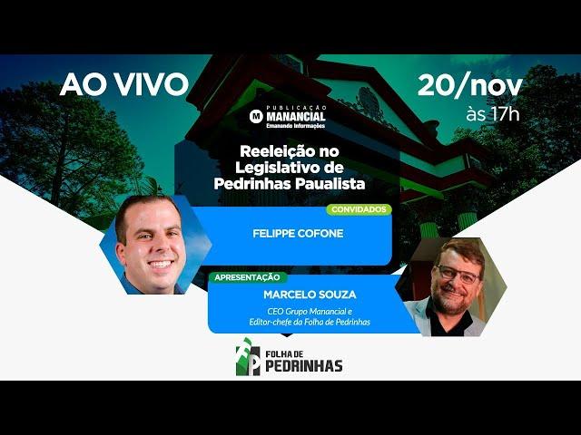 AO VIVO | Reeleição no Legislativo de Pedrinhas Paualista