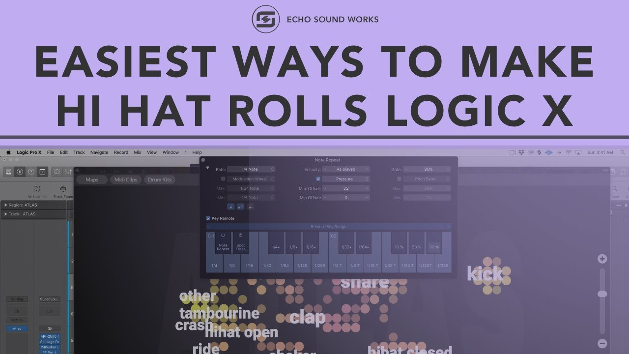Logic X - Easiest Ways To Make Hi Hat Rolls
