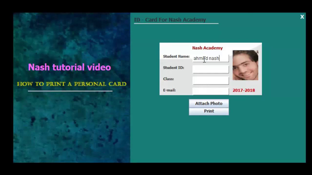 Using Print Id Netbeans with Personal Create And Java Card Dimensions
