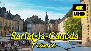 Sarlat-la-Canéda, France in 4K (UHD)