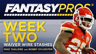 Live: Week 2 Waiver Wire Stashes (2019 Fantasy Football)