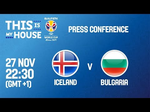 Iceland v Bulgaria - Press Conference - FIBA Basketball World Cup 2019 - European Qualifiers