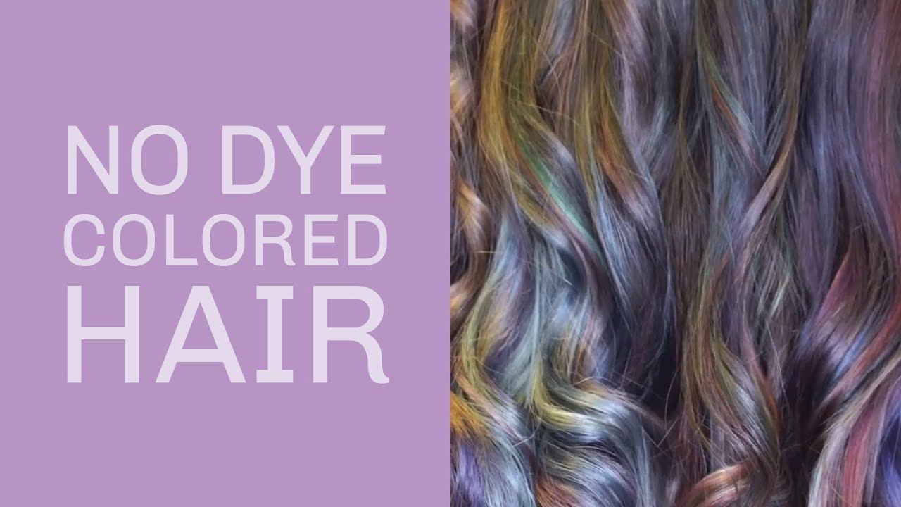 DIY Oil Slick Hair WITHOUT Dye YouTube