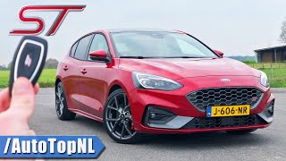 2021 Ford Focus ST *AUTOMATIC* REVIEW on AUTOBAHN [NO SPEED LIMIT] by AutoTopNL