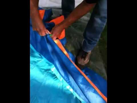 Slidewinder Sidewinder Blast slide problem ripped seam water Banzai
