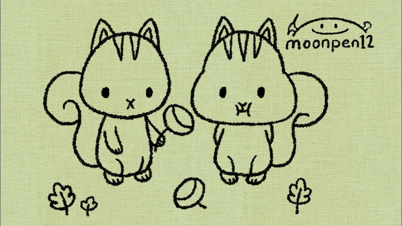 かわいい♡リアルな!りすの絵の描き方30選!秋冬動物イラスト!リス