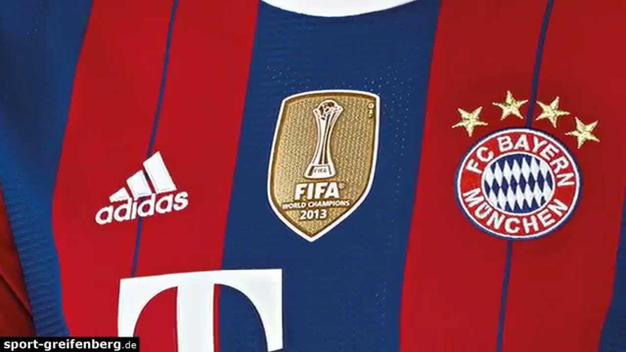 FC Bayern Trikot 20142015 Home Club WM Badge