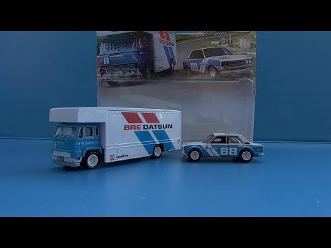 Hot Wheels Team Transport Mix C Datsun 510 + Fleet Flyer! | Review