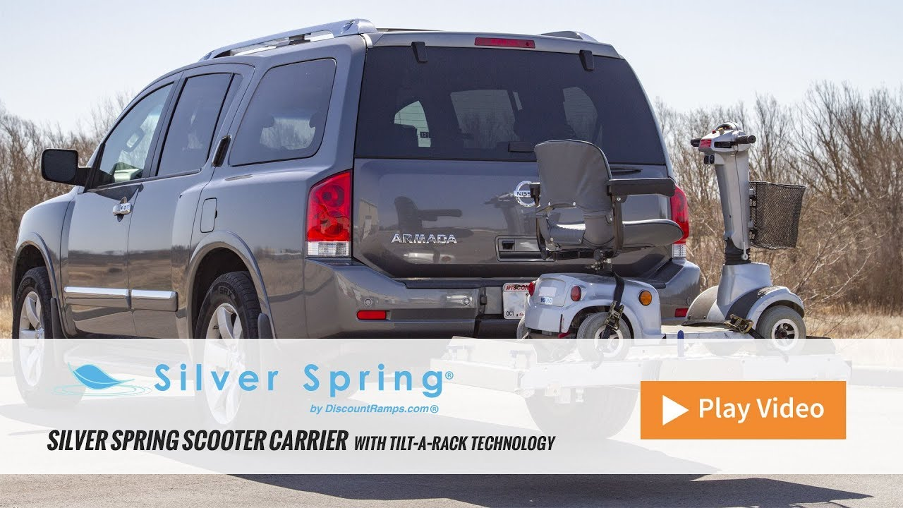 tilt a rack premium aluminum scooter and wheelchair carrier by silver spring