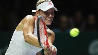 Angelique Kerber vs Simona Halep  | 2016 WTA Finals Singapore Highlights