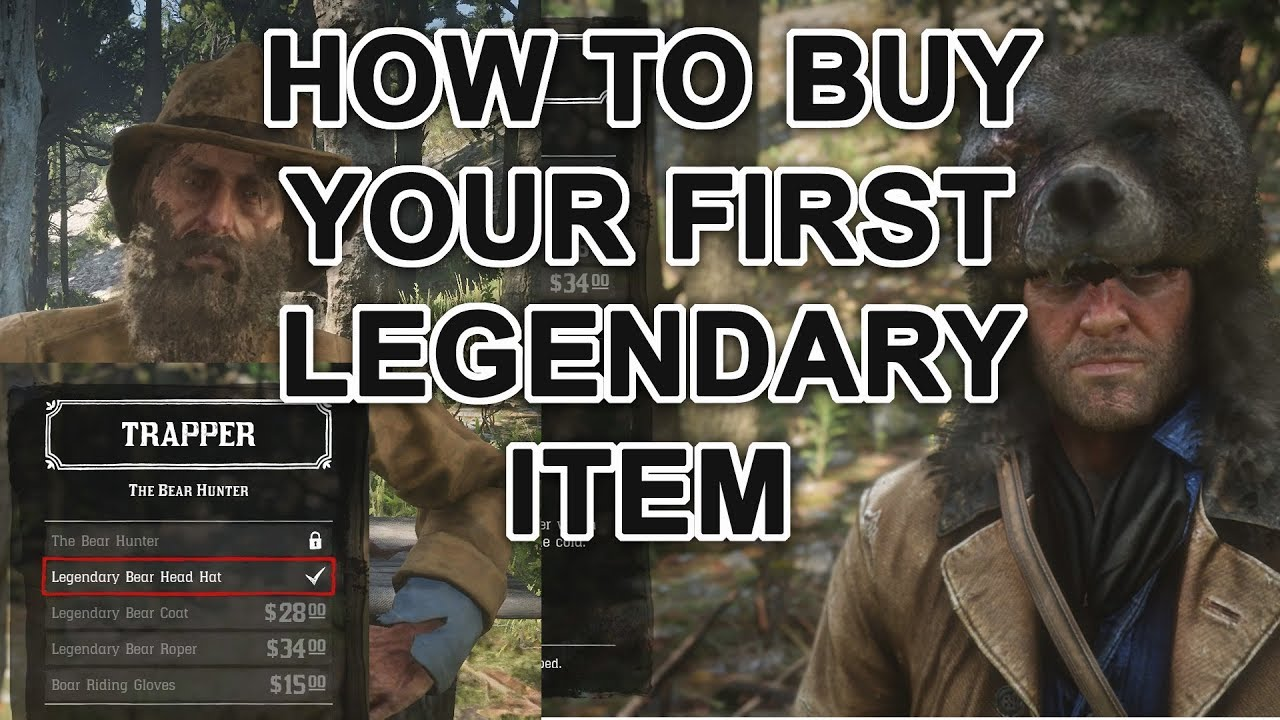 How to purchase the Legendary Bear Head Hat from the Trapper - YouTube 89adbb29e301