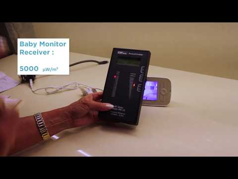 Wireless Baby Monitors: Safe For Baby? EMF/RF Radiation Detector Test