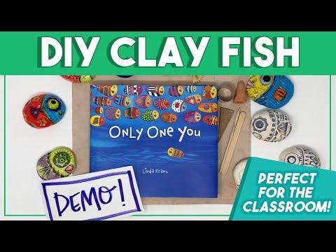 DIY Clay Fish: Elementary Art Project