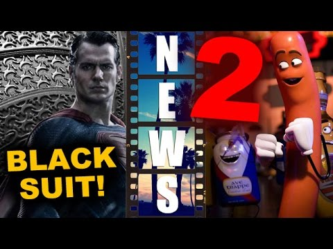 Henry Cavill teases Black Suit for Justice League! Sausage Party 2!