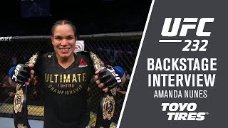 UFC 232: Amanda Nunes - 'The Pressure Was On Her'
