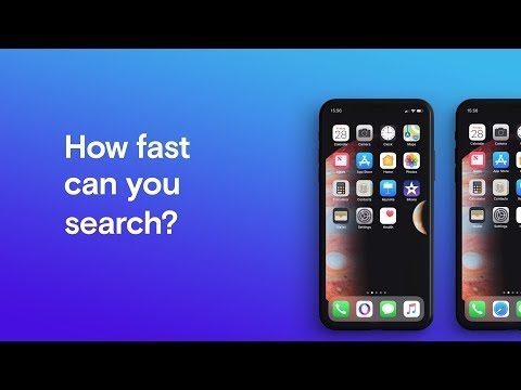 Opera Touch vs Apple Safari - How fast can you search? | Opera